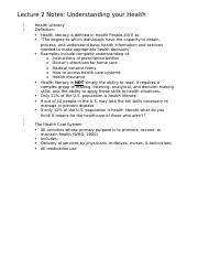 BBH 119 Exam 1 Lecture Notes
