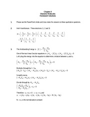 Chapter 8 Homework Solutions on Quantum Mechanics