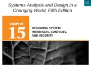 Chapter 15- Design System Interfaces, Controls, and Security
