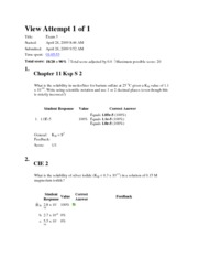 CHEM Test version A 2009