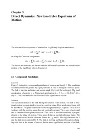 "Direct Dynamics_Newtonâ€""Euler Equations of Motion"