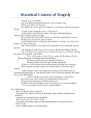 Historical Context of Tragedy