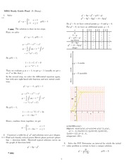 Final Exam Study Guide Solution on Engineering Mathematics III (Numerical Methods) Spring 2009