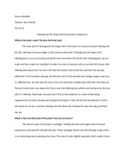 Hedwig and the Angry Inch- Script Response 2
