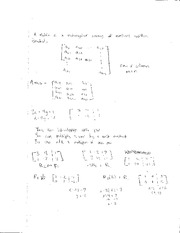 Class Notes Matrix and Problems