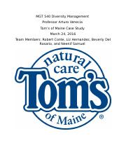 Toms of Maine paper