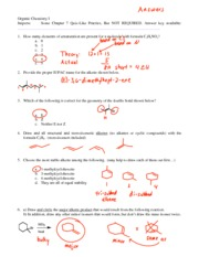 Test 3 Extra Practice 1 EU Alkene Synthesis Mech Types-answers