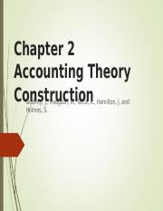 CHAPTER 2 - accounting theory construction