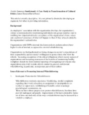 6 Article Summary Sundstrand A Case Study in Transformation of Cultural Ethics