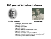 alzheimers disease notes