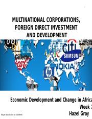 FDI and MNCs Africa.odp