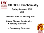 BISC 330 Spring 2010 Lecture 7