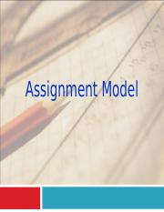 Lecture 11 Assignment Model.ppt