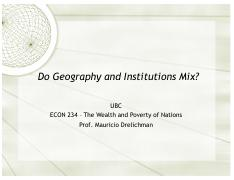 Lecture 19 - Geography and Institutions