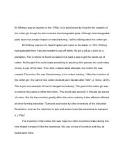 Expository Essay On Cotton Gin and Eli Whitny.pdf