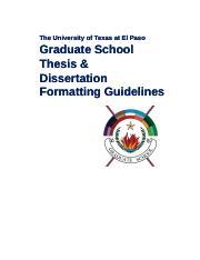 utep dissertation format