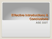 ASE333T_Introductions-Conclusions