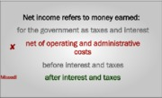 Net income refers to