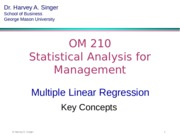 1 Multiple Regression Key Concepts