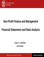 NPFM - Class 2 - Financial Statement Analysis and Ratios - Fall 2016.ppt