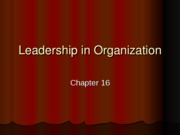 Leadership in Organization
