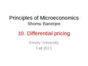 10. Differential Pricing