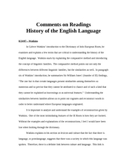 Comments on Readings
