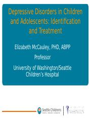 2009-12 - McCauley - Depressive Disorders in Children and Adolescents