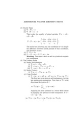 Additional Vector Relations