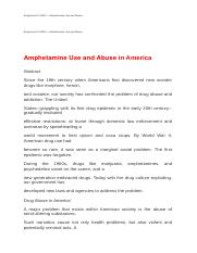 Assignment 2 LASA I—Amphetamine Use and Abuse.docx