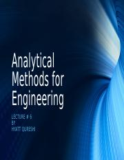 Lecture 6 - Analytical Methods for Engineers.odp