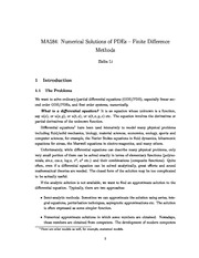 Lecture Notes on Finite Difference Methods