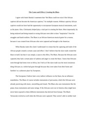 African-American Lit Essay #1