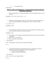 MISCELLANEOUS ASSESSEMENT #5 – PS 430 STATISTICS FOR PSYCHOLOGY RESEARCH – CHAPTER 7.docx
