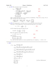 Fall 2010 Exam 1 Solutions