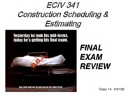 Final Exam Review 2009