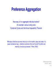 week 2 - Preference Aggregation (1)
