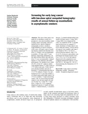 Research_Screening for early lung cancer_Diedrich 2004
