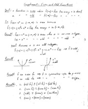 Lecture on Even and Odd Functions