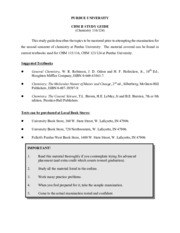 PURDUE_UNIVERSITY_CHM_II_STUDY_GUIDE_Chemistry