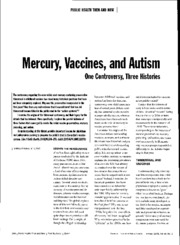 Baker 2008 Mercury, vaccines and autism