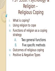 PSY 3310 - 25 - Religious Coping - Instructor.pptx