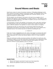 32 Sound Waves and Beats