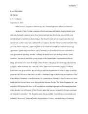 Chapter 38 Essay