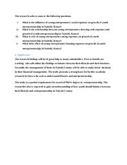 The research seeks to answer the following questions.docx