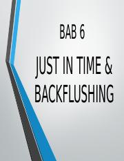 JUST IN TIME & BACKFLUSHING