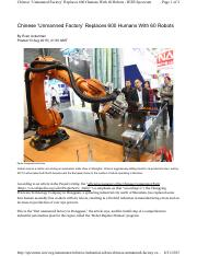 2_Chinese 'Unmanned Factory' Replaces 600 Humans With 60 Robots