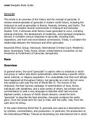 Genocide Research Paper Starter - eNotes