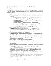 Bus-318 Mid Term Study Guide With Answers