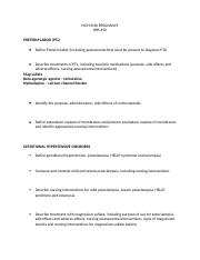 HIGH RISK PREGNANCY TBL study guide.docx